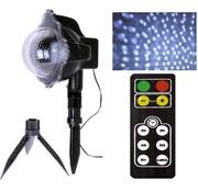 Laser projector sneeuwvlokken met afstandsbediening
