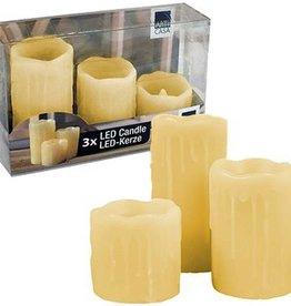Arti Casa LED-kaarsen - set van 3