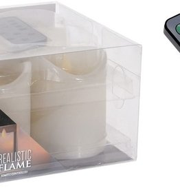 Wax LED-kaarsen ivoor - dansende vlam - Set van 4