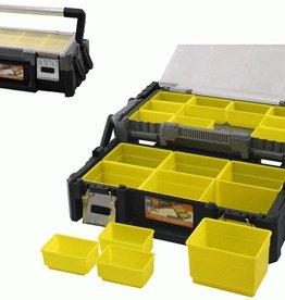 WorkMen Toolbox met uitneembare vakken - 46x24x15cm