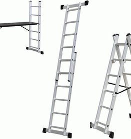 WorkMen Ladder 3-in1 - Ladder - Vouwladder - Steiger