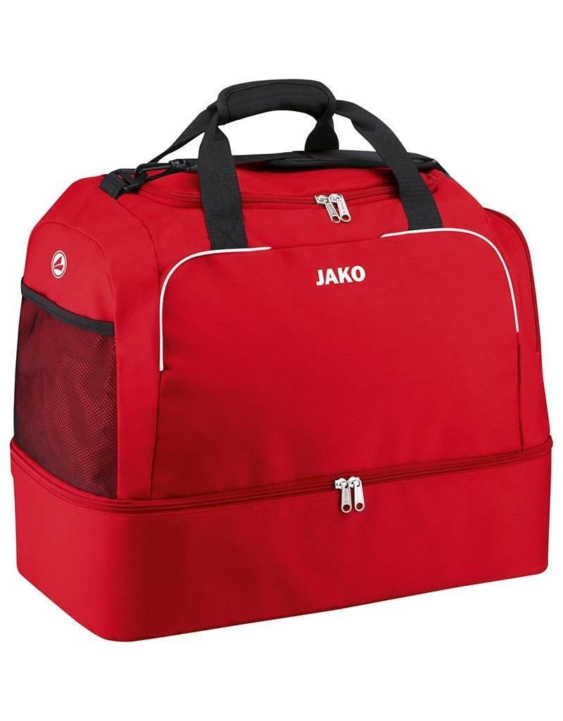 JAKO Sporttasche Classico mit Bodenfach rot