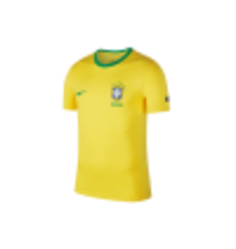 Nike Nike – Football Brazil – T-Shirt mit Wappen in Gelb,