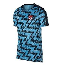 Nike Nike 2018-2019 Turkey Pre-Match Training Football Soccer T-Shirt Trikot (Blue)