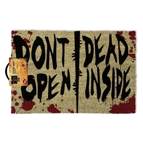 Walking Dead Dont Open Dead Inside Doormat 60x40 PVC met Kokosvezels