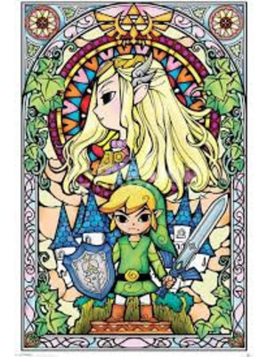 The Legend Of Zelda Stained Maxi Poster 61x91.5