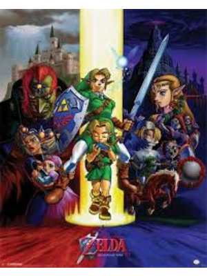 The Legend of Zelda Ocarina of Time Mini Poster 40x50