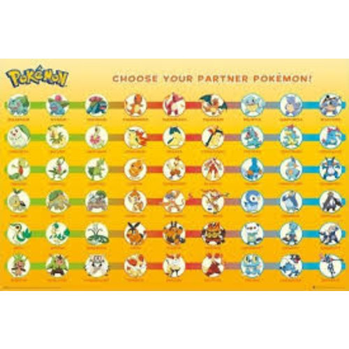 Pokemon Partner Pokemon Maxi Poster 61 91.5
