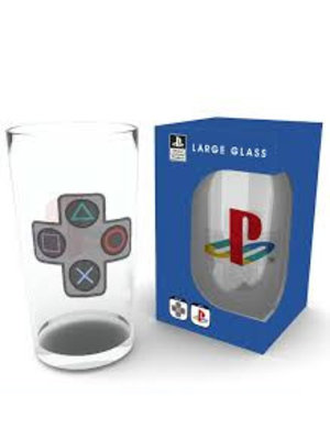 Playstation Logo + Buttons Glass 500ml