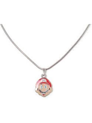 Difuzed Nintendo - Mario Metal Necklace with Face Charm