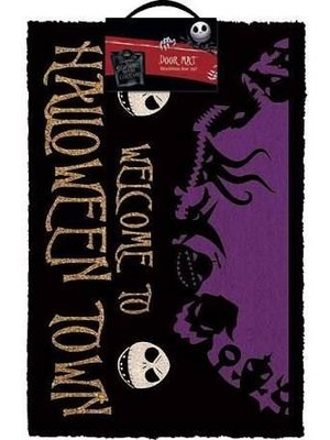 Nightmare Before Christmas Halloween Town Doormat 60x40 PVC met Kokosvezels