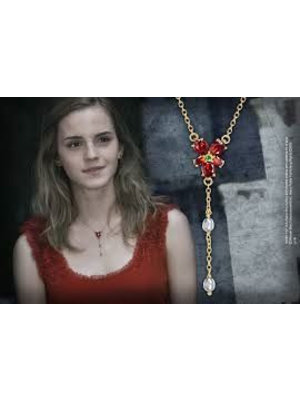 Harry Potter Hermione Red Crystal Necklace Noble Collection