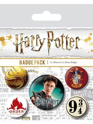 Harry Potter Gryffindor 5 Badge Pack Buttons