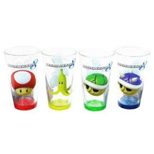 Mario Kart Character Pint Glasses 4 Pack