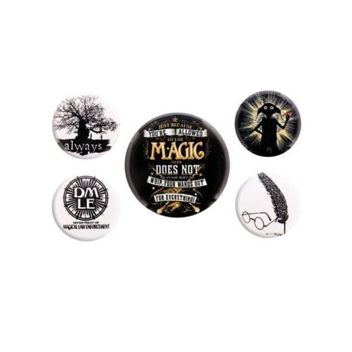 Harry Potter Symbols 5 Badge Pack Buttons