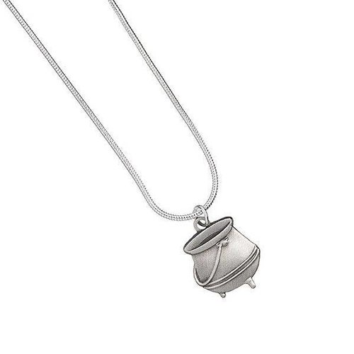 Harry Potter Silver Plated Necklace Potion Cauldron