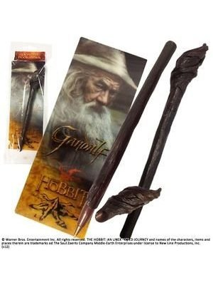 The Hobbit Gandalf Staff Pen + Bookmark Noble Collection