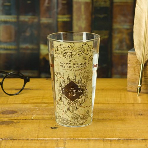 Harry Potter Marauders Map Glass