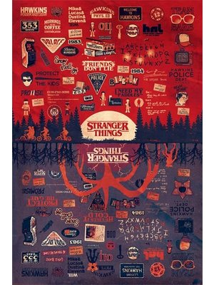 Stranger Things The Upside Down Maxi Poster