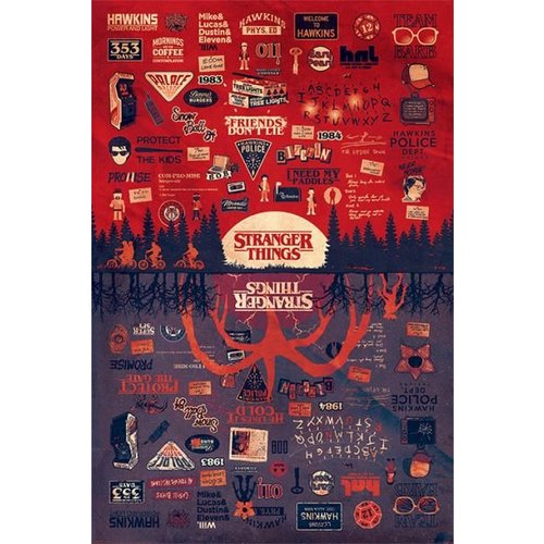Stranger Things The Upside Down Maxi Poster 61x91.5
