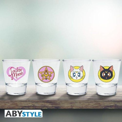 Sailor Moon Emblem Shot Glasses 4 Pack