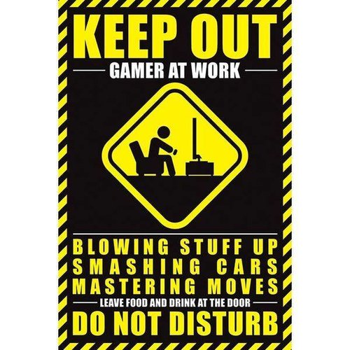 Gamer at Work Maxi Poster 61x91.5