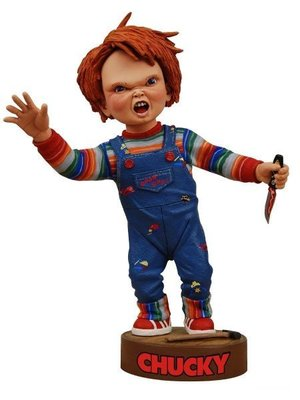 NECA Childs Play 2 Chucky Headknocker Figure Hand Painted NECA