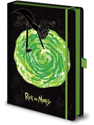 Rick and Morty Portals Notebook A5 Premium