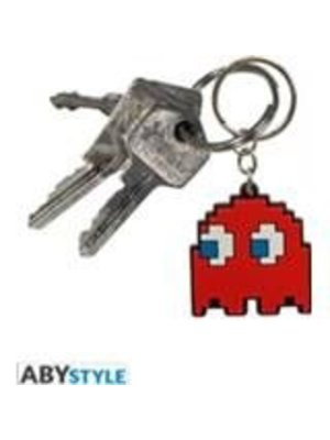 Pac-Man Rubber Keychain Ghost