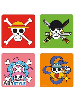 One Piece Skull Coaster Set 4 Pack