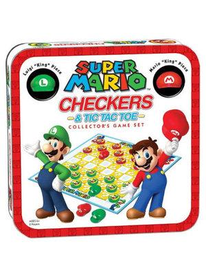 Nintendo Super Mario Checkers + Tic Tac Toe Boardgame