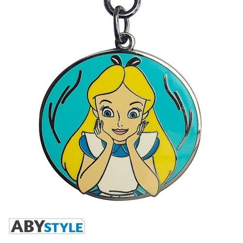 Disney Alice Metal Keychain