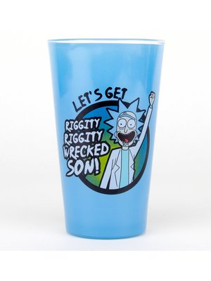 Rick and Morty Wrecked Premium Coloured Pint Glass 500ml
