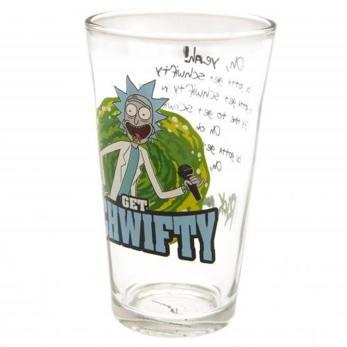 Rick and Morty Get Schwifty Large Pint Glass 500ml