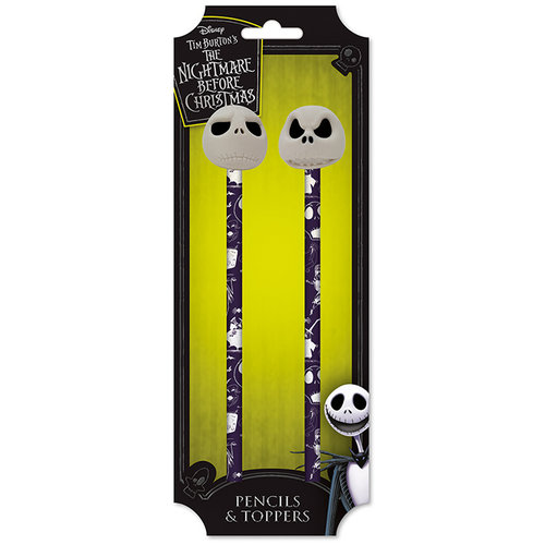 Nightmare Before Christmas Jack Pencils & Toppers (Set of 2)