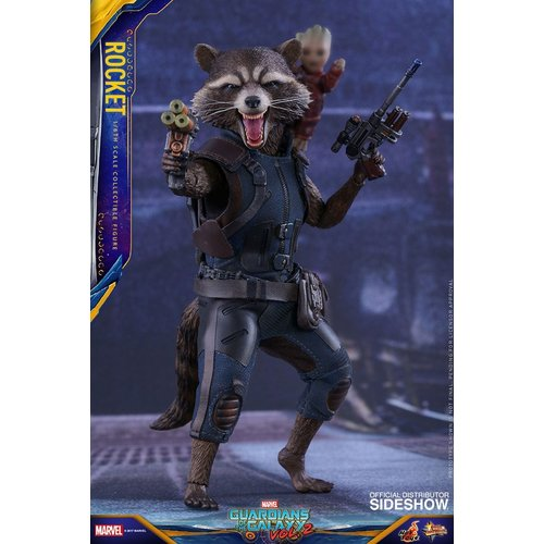 Guardians of the Galaxy 2 Rocket Racoon 1:6 Scale Figure Hot Toys Sideshow