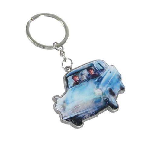 Harry Potter Flying Car Metal Keychain