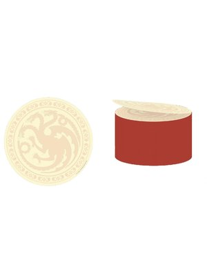 Game of Thrones House Targaryen Sticky Notes Rounded