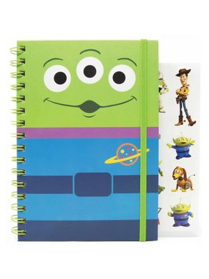 Disney Toy Story Alien Notebook A5 with Stickers