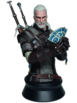 The Witcher 3 Wild Hunt Bust Geralt Playing Gwent LTD 22cm