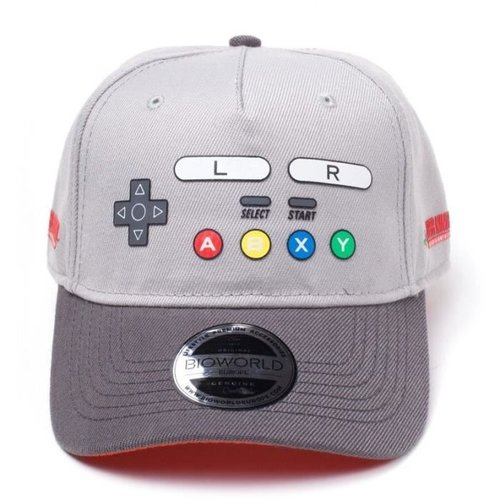 Nintendo SNES Buttons Curved Bill Cap