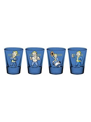 Fallout Premium Coloured Shot Glass 4 Pack