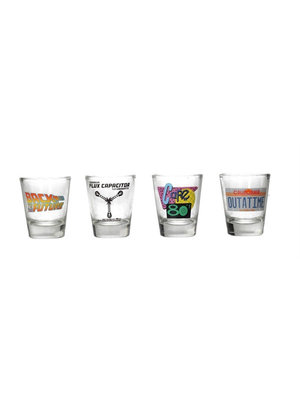 Back to the Future Shot Glasses 4 Pack