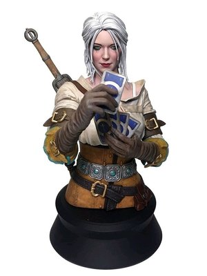 The Witcher 3 Wild Hunt Bust Ciri Playing Gwent LTD 22cm