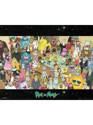 Rick and Morty Cast Mini Poster 40x50