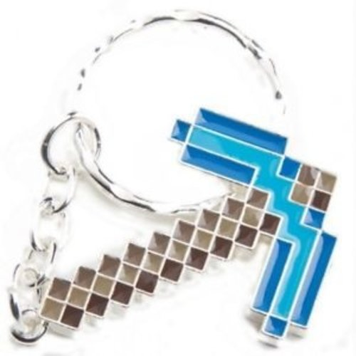 Minecraft Diamond Pickaxe Metal Keychain