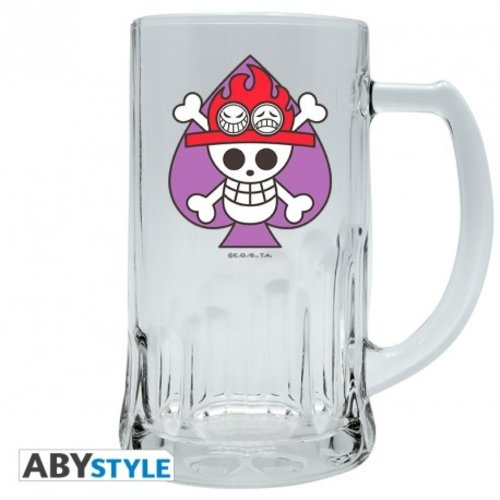 One Piece Ace Tankard Beer Glass