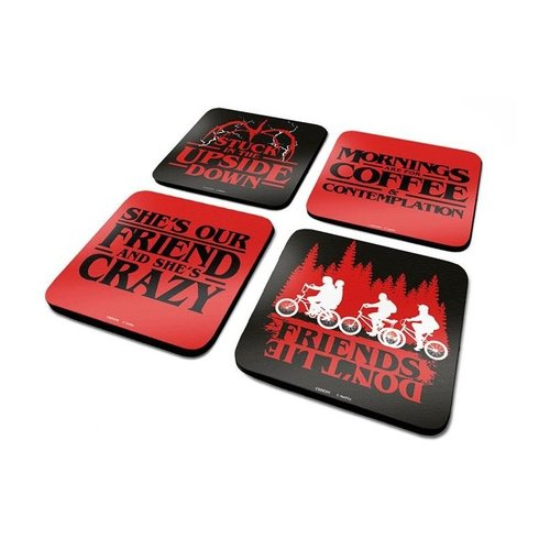 Stranger Things Coaster Set 4 Pack Onderzetters
