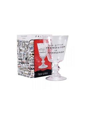 Friends Your Little Harmonica is Hammered Wine Glass Goblet