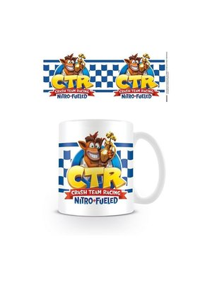 Crash Bandicoot CTR Checkered Flag Mug 315ml
